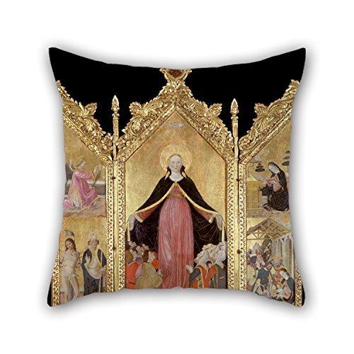 Kissen Fall 40,6x 40,6cm/40von 40cm Ölgemälde Gottardo Scotti–Triptychon der Madonna der Barmherzigkeit Werfen Kissen Fall, doppelte Seiten Ornament und Geschenk, um Esszimmer, BF, Husband, Boden, Kinder, Gril