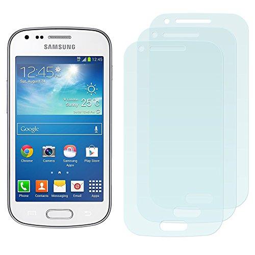 3 x Filmex Displayschutzfolie Samsung Galaxy S Duos 2 (GT-S7582) - Klar Unsichtbar Aufkleber Schutzfolie, Premium-Qualität Japan PET-Folien, Lebenslange - Screen-ersatz S Galaxy Duos