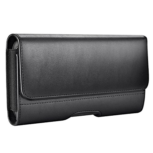 iPhone 8 Plus Hülle, Mopaclle Nylon iPhone 7 Plus Gürteltasche Handy Tasche Hülle Case Cover Gürtelclip Handyhülle für Samsung Galaxy S9 Plus ,Apple iPhone 6 Plus 6s Plus (Schwarz) (Samsung S5 Otterbox-holster Case)