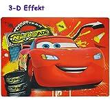 alles-meine.de GmbH 3-D Effekt __ Unterlage -  Disney Cars - Lightning McQueen  - als Tischunterlage / Platzdeckchen / Malunterlage / Knetunterlage / Eßunterlage / Platzmatte -..