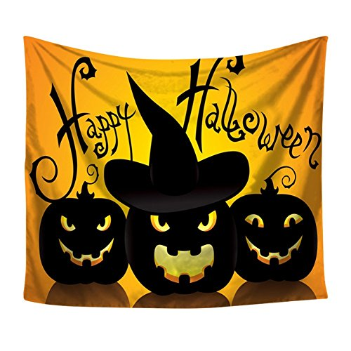 (Balai Halloween Wandteppich Wandbehang, Kürbis Ghost Hexe Wand Decke für Halloween Home Schlafzimmer Dekor)