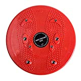 KEKDORY Praktische Haushalts Twist Waist Torsion Disc Board Magnet Aerobic Fuß Übung Yoga Training Gesundheit Twist Waist Board-rot