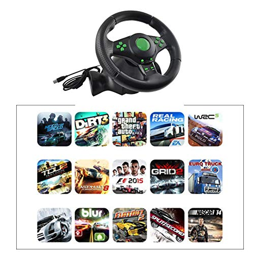 farmer-W Gaming Racing Wheel für XBOX-360/PS3/P2/PC Game Racing Steering Wheel USB Computer Vibration Racing Wheel Car Grip Controller