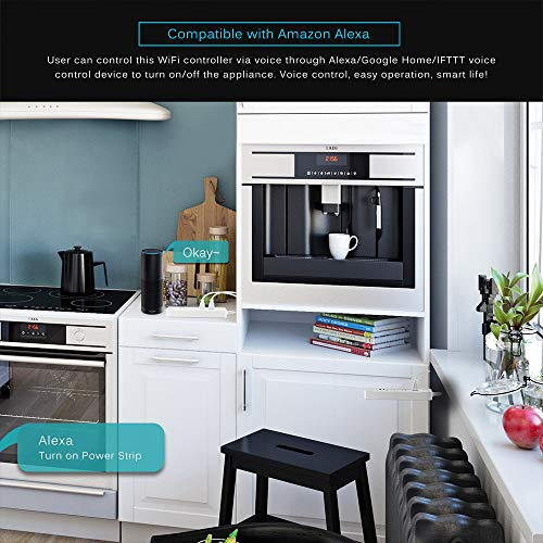 ONEVER Steckdosen-Timing-Fernbedienung WiFi 4-Outlet-Steckdosenleiste Arbeiten Sie mit Amazonas/Google Home/IFTTT für Smart Home Automation