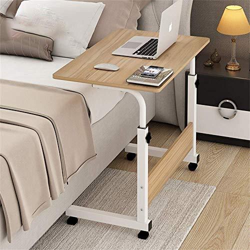 Nachttisch Computer Tisch Lazy Table Desktop Home Bett Mit Einfachem Schreibtisch Einfacher Klapptisch Abnehmbarer Kleiner Tisch 80 * 40 cm (größe: 80x40x70 cm) (Farbe: Weiß ahorn) -