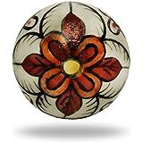 Ceramic Gypsy Flower Knob By Trinca-Ferro