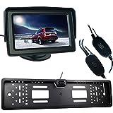 Buyee Funk Auto Rückfahrkamera 170 Nachtsicht+Nummernschild+4,3 Bildschirm Monitor