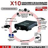 X10S 3G 4G Live H.264 CMS-Überwachung DVR 4 CH Mobile DVR für Android für iOS - Schwarz
