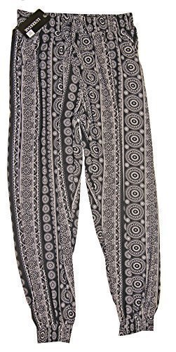 pantalon-femme-fluide-imprime-bas-resserre-smocke-2-poches-hippy-chic-xl-xxl42-44-marine