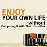 DECOR Kafe Home Decor Quote Wall Sticker, Wall Sticker For Bedroom, Wall Art, Wall Poster (PVC Vinyl, 53 X 22 CM)
