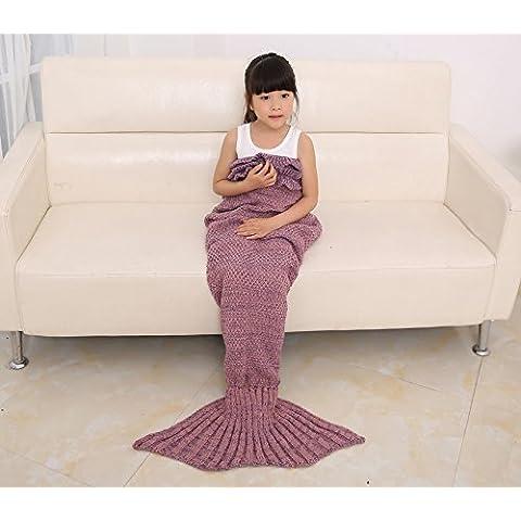 Mermaid TBOOM Tail-Coperta a maglia morbida, motivo: