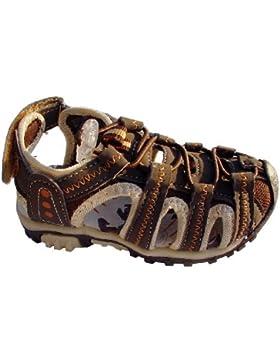 Kinder Trekking Sandalen mit Lederinnensohle, Gr.25-30, braun