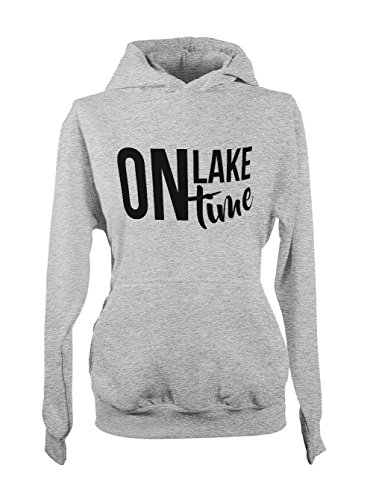 On Lake Time Relax Vacation Cool Femme Capuche Sweatshirt Gris