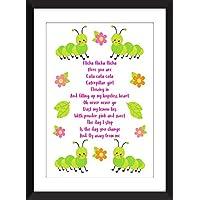 The Cure Caterpillar Lyrics Unframed Stampa