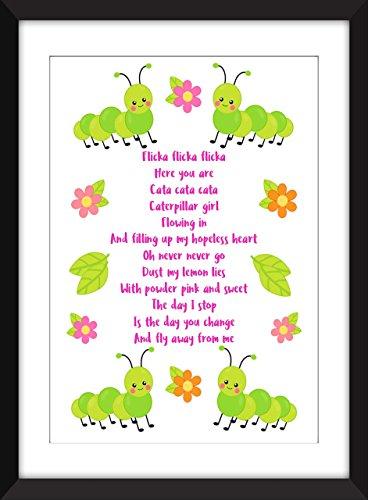 the-cure-caterpillar-lyrics-unframed-stampa