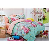 Dreamie Colorado Premium Design All Matching 4 Pieces Bedding Set With Beautiful Bedsheet and Comforter Cover and Pillow Covers