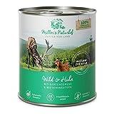 Müllers Naturhof | Wild und Huhn | 6 x 800 g | Nassfutter für alle Hunderassen | getreidefrei und glutenfrei | mit Gartengemüse und Wiesenkräutern | naturnahe Rezeptur mit 65% Fleisch