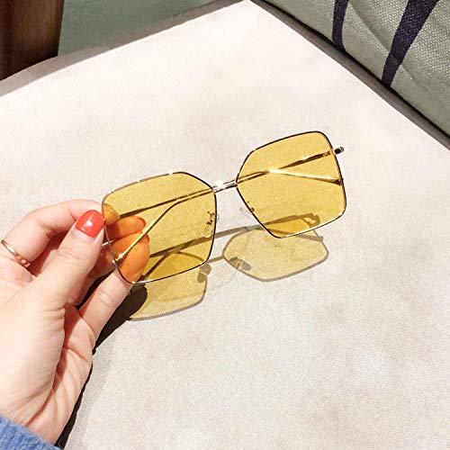 BHLTG Polarisierte Sonnenbrille Männer quadratische Paare Sonnenbrille weibliche koreanische Ausgabe dünnes rundes Gesicht Flut Persönlichkeit polarisierten Spiegel UV-Schutz Brille-3