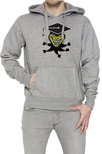 Burlone Uomo Grigio Felpa Felpa Con Cappuccio Pullover Grey Men's Sweatshirt Pullover Hoodie