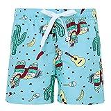 Funnycokid Kleinkind Jungen Shorts Sommer Schnelltrocknend Elastic Funny Horse Hawaiian Ferien Kinder Schwimmen Badeshorts
