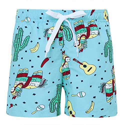 Funnycokid Kinder Badeshorts Sommer Printed Schnelltrocknend Funky Horse Holiday Style Jungen Schwimmen tragen Shorts