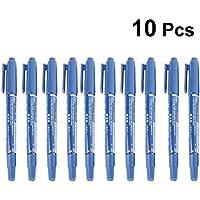 SUPVOX 10pcs Tatuaje lápiz Marcador de Tatuaje Piel Marcador Tatuaje Piercing lápiz Herramienta de Suministro de Arte Corporal (Azul)