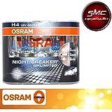 Osram Paar Lampen Auto H4NIGHT BREAKER UNLIMITED + 110% Licht + 40Meter + 20%