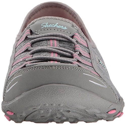Skechers - Breathe-easy Allure, Chaussures De Sport Grises / Roses