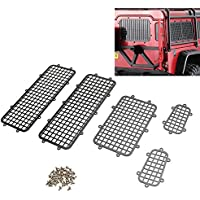 KINGDUO 1 Set Black Metal Windows Guard para Traxxas TRX-4 Body RC 1/