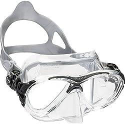Cressi Eyes Evolution Crystal Masque de Plongée/Chasse Sous-Marine (Fabriqué en Italie) - Clear/Noir