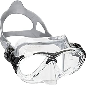 Cressi Eyes Evolution Scuba Diving Snorkeling Mask (Made in Italy), Clear/Black