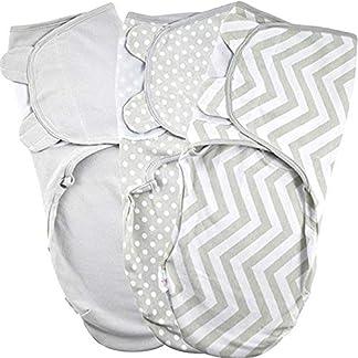 Manta Envolvente para Bebé y Recien Nacido 1.0 TOG – 3x Saco de Dormir Manta de Arrullo Cobija 100% Algodón 220GSM