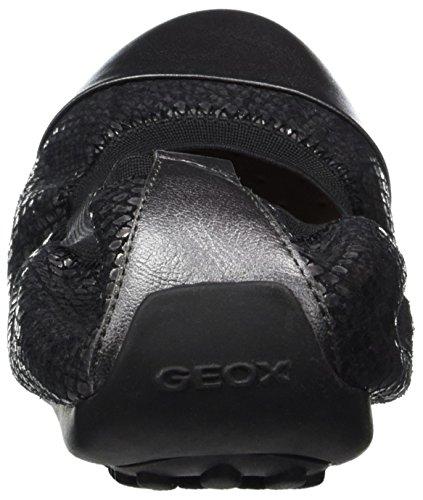Geox Jr Piuma Ballerine B, Sandales Bout Fermé Mixte Adulte Noir (Black)