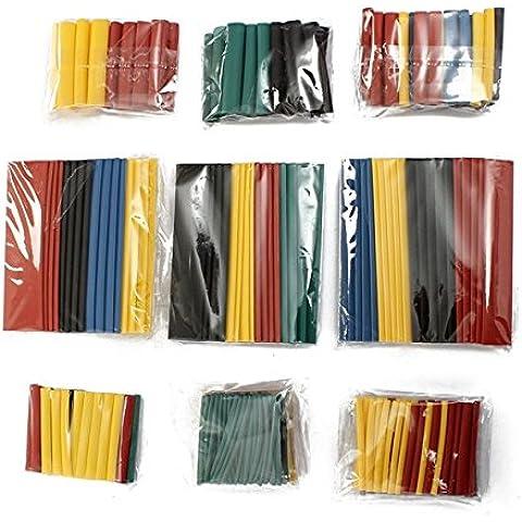 AUAUDATE 328 x 5 Color 8 Sizes Surtidos Poliolefina Tubo Tubería del Encogimiento del Calor