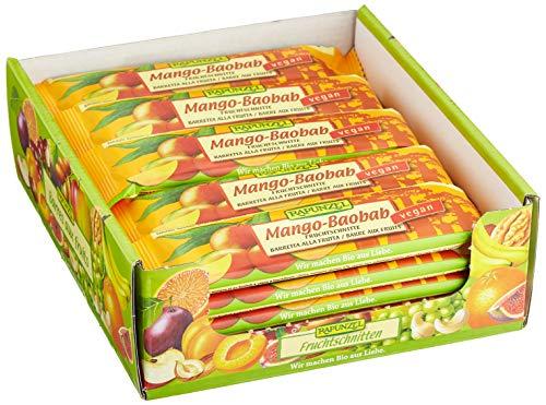 Rapunzel Fruchtschnitte Mango-Baobab, 25er Pack (25 x 40 g)