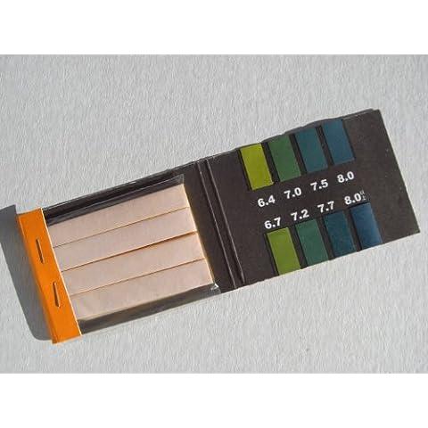 400pezzi PH Indicatore Strisce per test carta valore pH 6,4–8,0