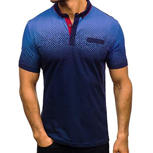 Preisvergleich Produktbild Strungten Herren Sommer Poloshirt Kurzarm Polohemd Sweatshirt Polo Shirt Kurzarmshirt Sportshirt T-Shirt Freizeit Hemd Slim Fit Einfarbige Casual Top Polohemd Steigung Farbe Freizeithemd