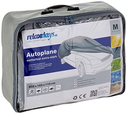 Relaxdays 10017921 Autogarage extra reißfest mit Innenfutter, Größe M, Grau
