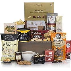 Cesta de comida navideña gourmet - Cestas de Navidad de lujo y canastos de regalo de comida - Ideas de regalo como cumpleaños y regalos de agradecimiento