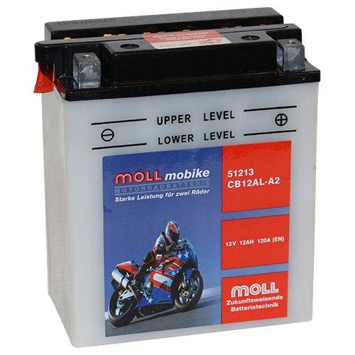 Moll mobike Motorradbatterie CB12AL-A2 12Ah 12V 120A - 51213SM