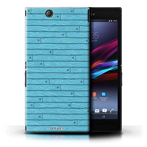 Kobalt® Imprimé Etui / Coque pour Sony Xperia Z Ultra / Gris conception / Série Motif Bois Turquoise