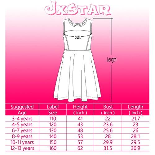 Jxstar-Enfant-Filles-Robe-de-Crmonie-Mariage-Jupe-Imprim-Licorne--Sans-Manches