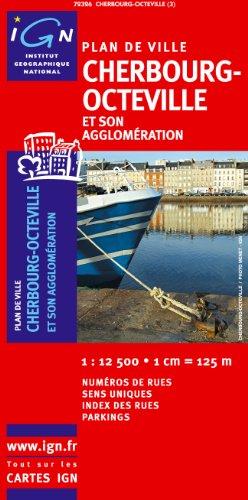 72326 Plan de Cherbourg-Octeville Sans Livret 1/12.500