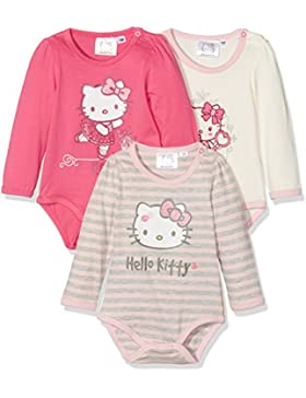 FABTASTICS Mädchen Body Hello Kitty 3er Pack