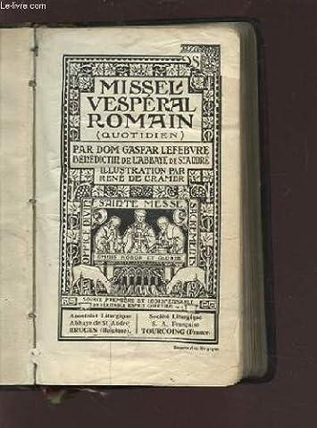 Missel Lefebvre - MISSEL VESPERAL ROMAIN - N°