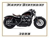 Harley Davidson Motor Bike A4Größe Geburtstag cake  Foto Essbar Cake Topper