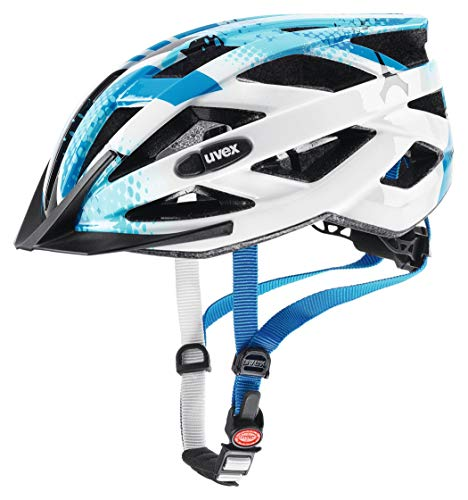 Uvex Kinder Fahrradhelm Air Wing Blue white 52-57 cm
