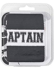 PT–Brazalete de capitán (adulto entrenamiento deportivo Hockey Rugby de brazaletes, color negro, tamaño Snr