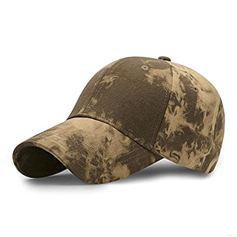 GADIEMENSS Sports Hat Breathable Outdoor Run Cap Camo Baseball caps Shadow Structured hats (Yellow)
