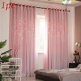 Princesa Stars Curtains, Elegant Voile Panel Double Layer